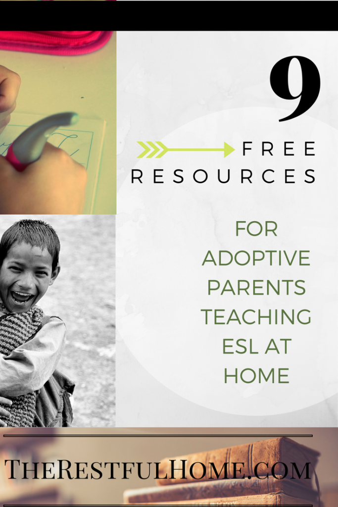 9 free resources for adoptive parents teaching ESL at Home