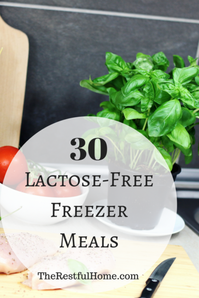 lactose-free freezer meals