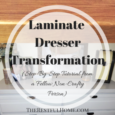Laminate Dresser Transformation with Chalked Paint