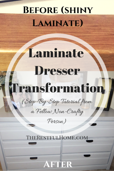 free laminate dresser transformation chalked paint