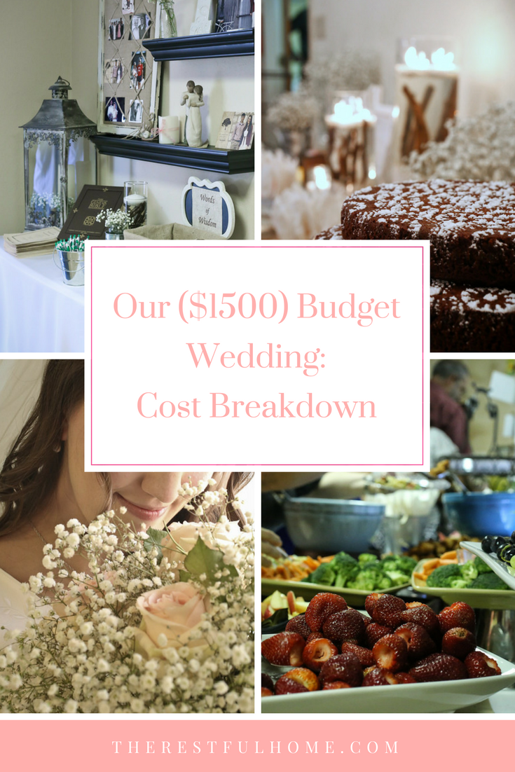 our 1500 budget wedding cost breakdown the restful home