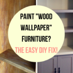 Can You Paint Wood Wallpaper Furniture?