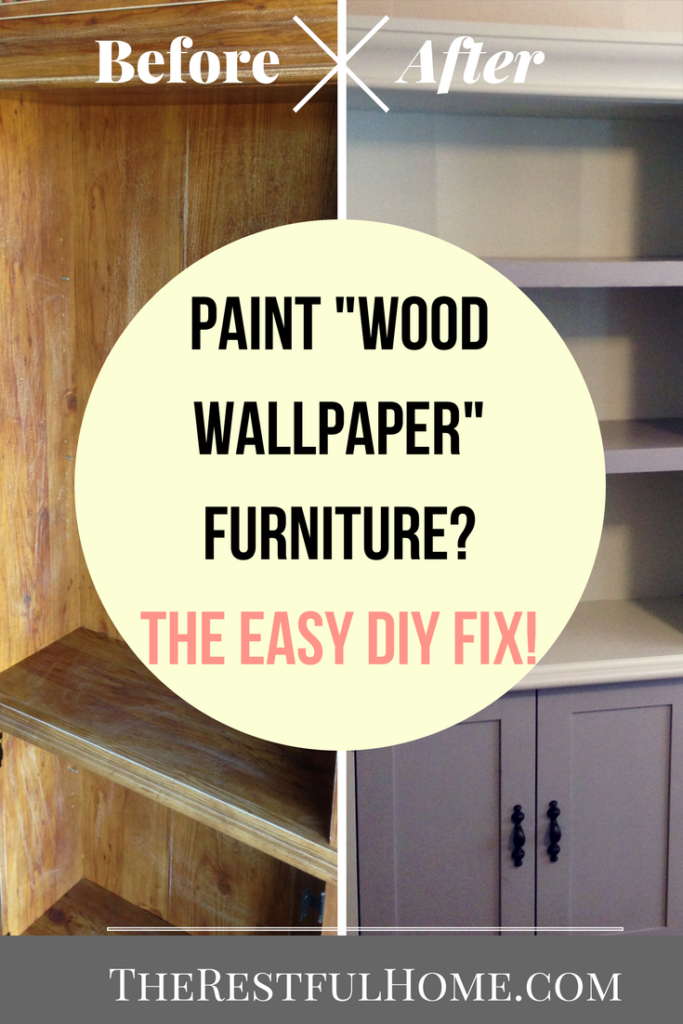 Most of the furniture redos that you see start with either real wood or wood  veneer  with only an occasional try at laminate  Real wood is best because  you. Can You Paint Wood Wallpaper Furniture    The Restful Home
