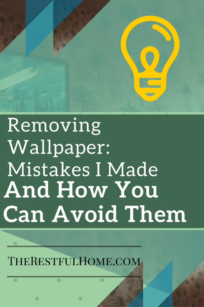 removing wallpaper mistakes