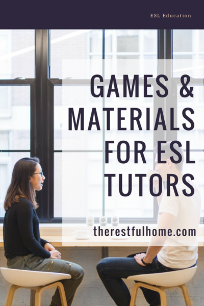 games and materials for esl tutors