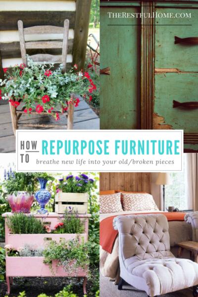 repurpose broken furniture