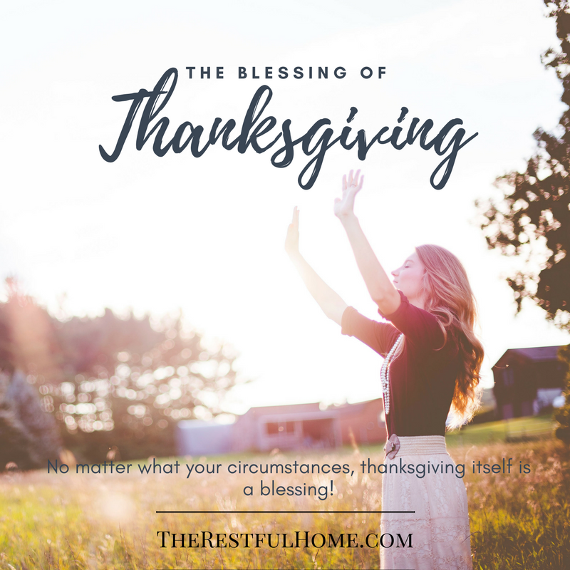 the blessing of thanksgiving
