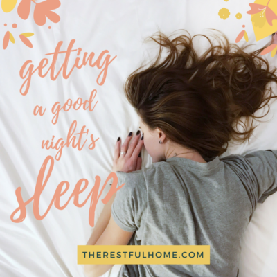 Getting a Good Night's Sleep: Guest Post
