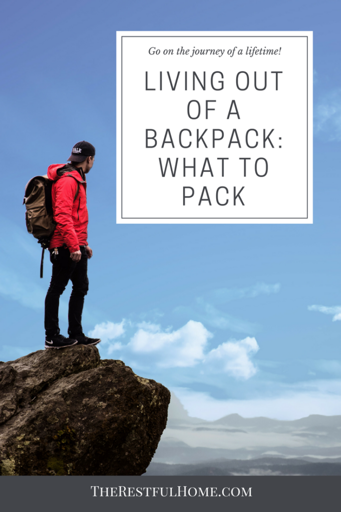 living out of a backpack what to pack