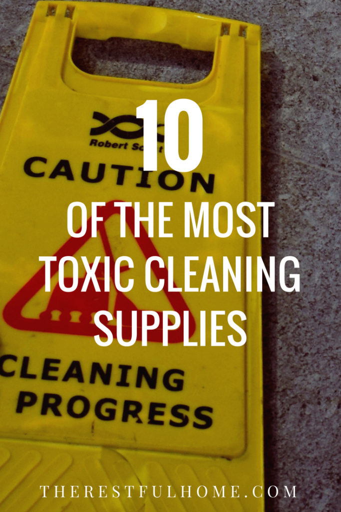 toxic cleaning supplies